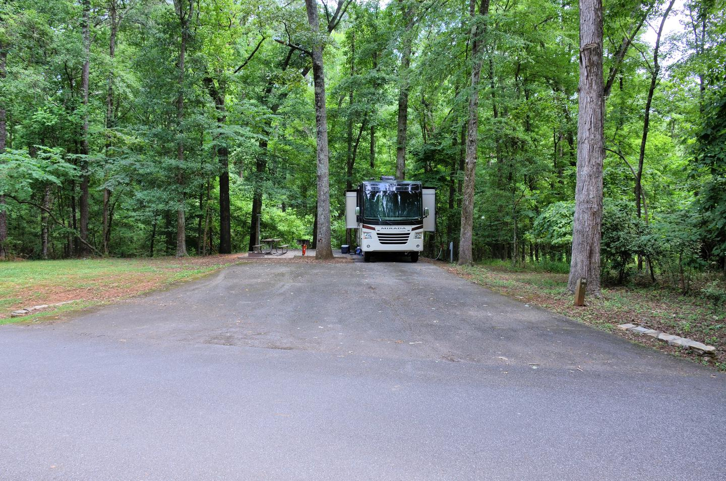 Driveway slopeVictoria Campground, campsite 36