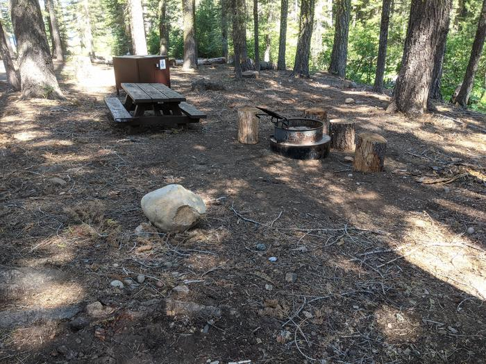 Little Beaver Site #22 Photo #3Site #22 with picnic table, bear box, fire ring, and grill in view