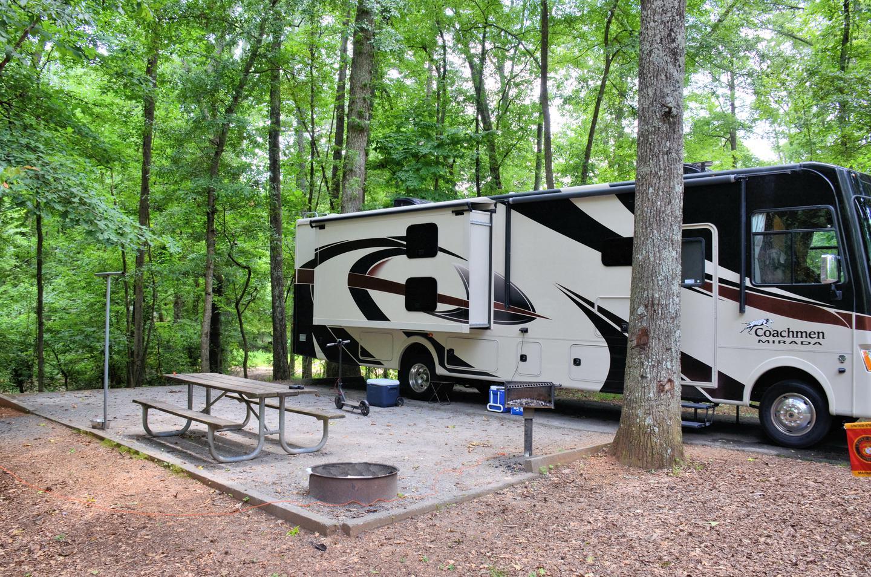 Campsite viewVictoria Campground, campsite 36