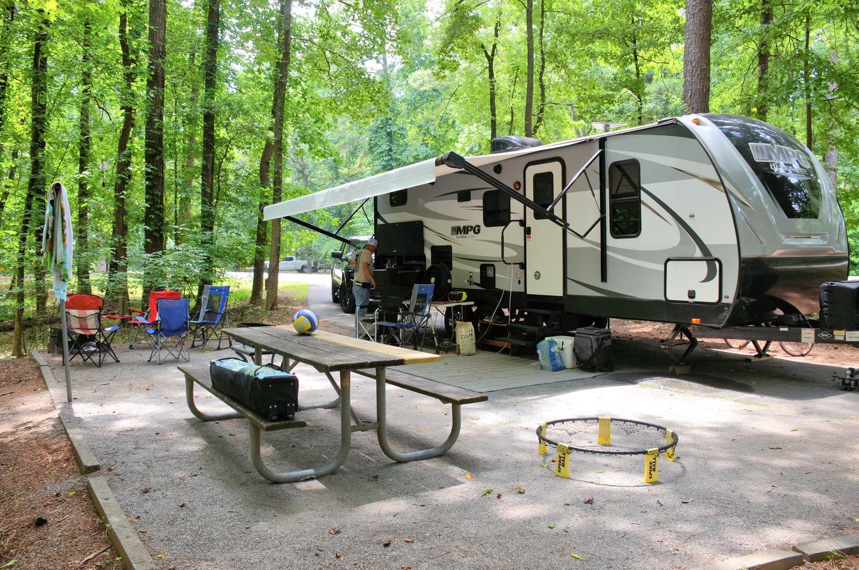 Campsite view.Victoria Campground, campsite 37.