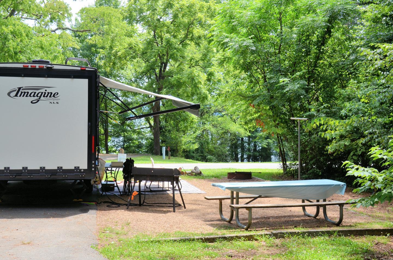 Campsite view.Victoria Campground, campsite 50.