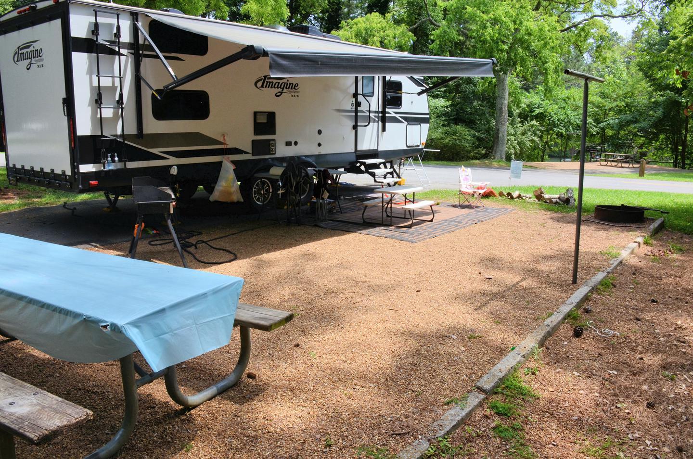 Campsite view..Victoria Campground, campsite 50.