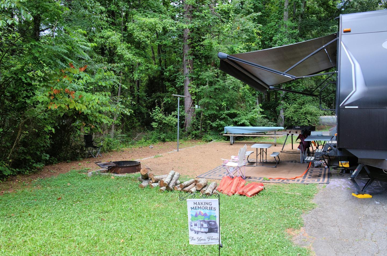 Campsite viewVictoria Campground, campsite 50.