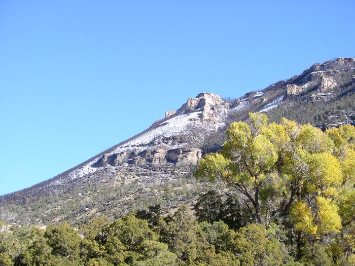 Cliffs around Shell Creek Campground