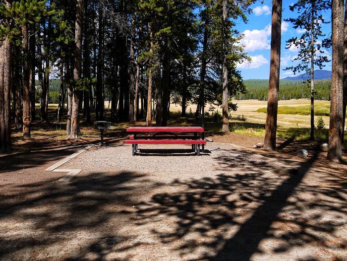 Campsite in Sitting Bull Campground