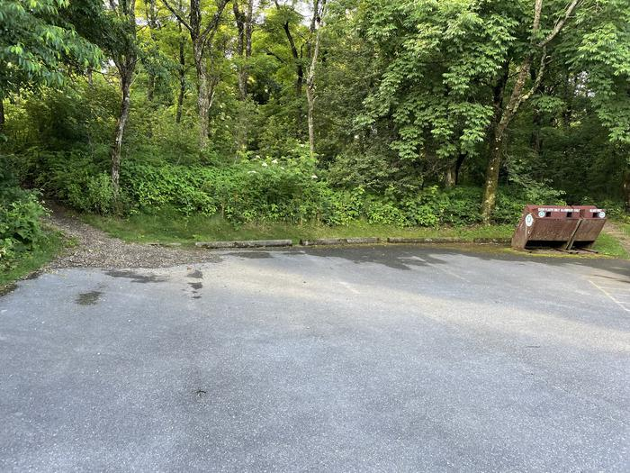 A photo of Site 004 of Loop Upper Loop at Loft Mountain Campground with No Amenities Shown
