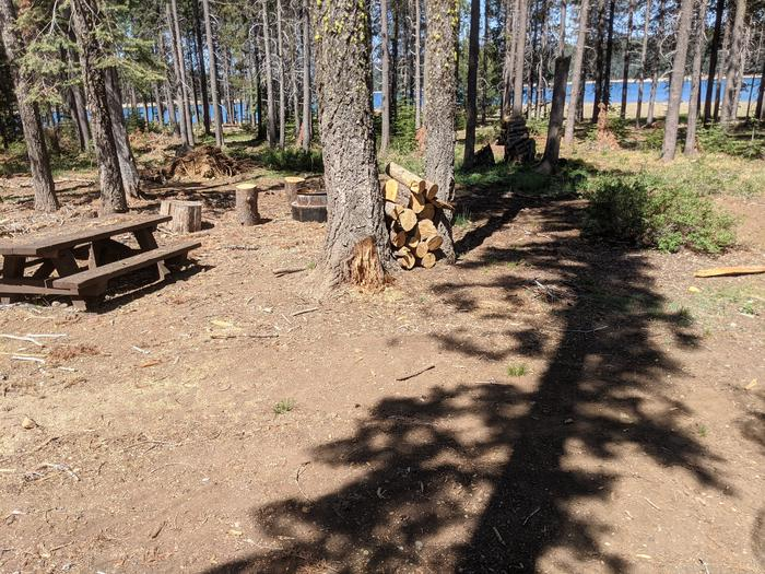 Little Beaver Site #32 Photo 2Overlooking site #32 with picnic table and fire ring in view