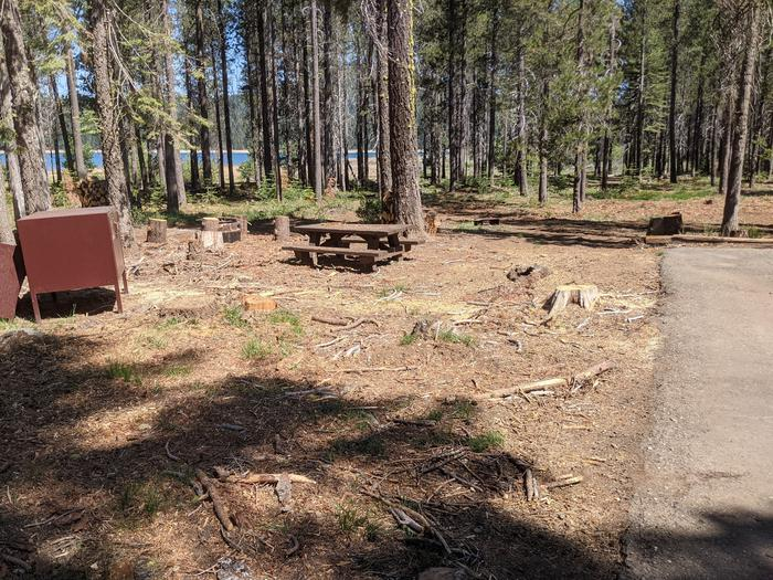Little Beaver Site #32 Photo 4Alternate view of site #32 with picnic table and bear box in view