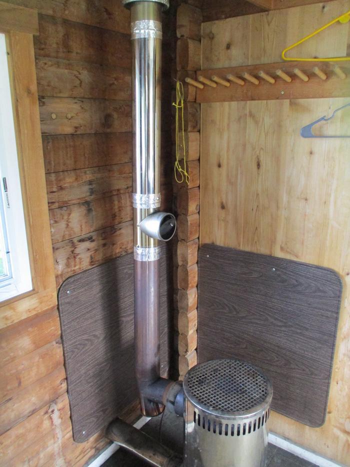 stove inside the cabinCabin Stove
