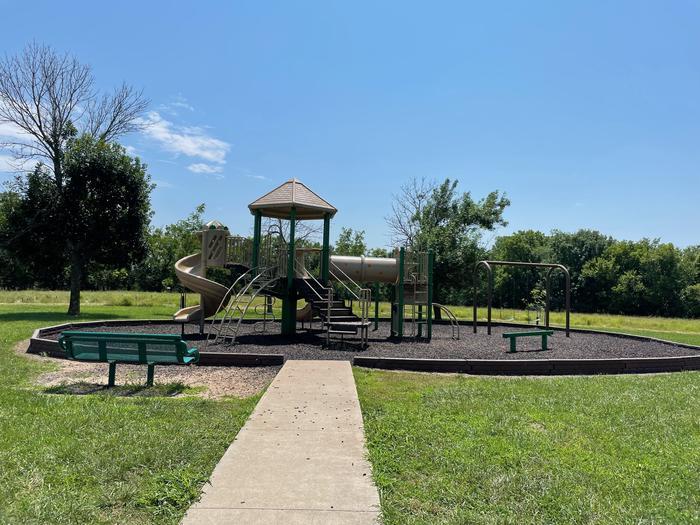 Playground located near the main entrance in Cedar Ridge Campground