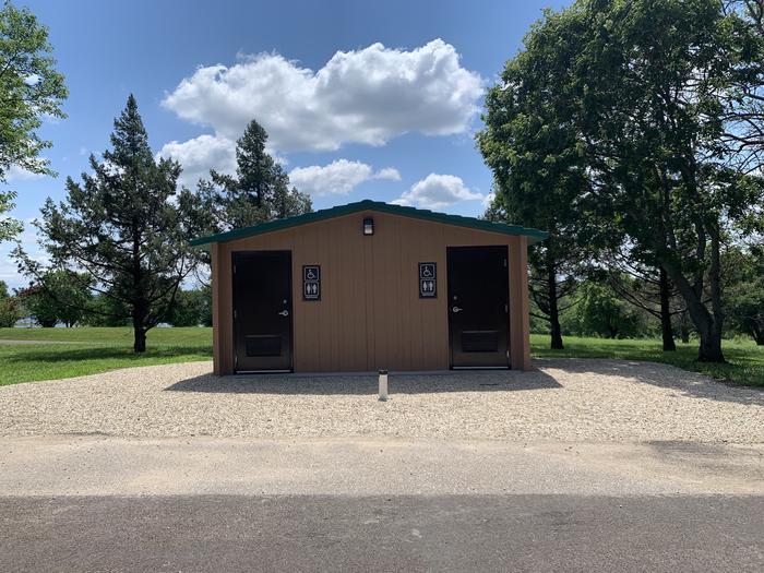 Waterborne Restroom in Cedar Ridge Campground   Waterborne Restrooms located in Cedar Ridge Campground
