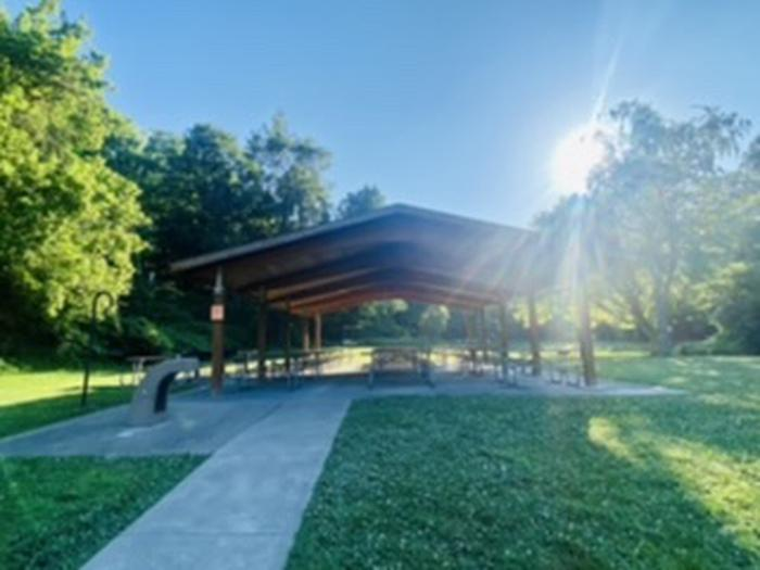 View of Holly Picnic Shelter.Looking at Holly Shelter.