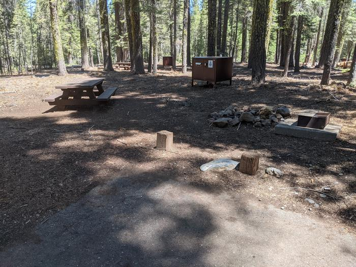 Little Beaver Site #44 Photo 2Overlooking site #44 with picnic table, bear box, fire ring, and grill in view