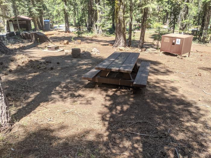Little Beaver Site #51 Photo 2Site #51 with picnic table, bear box, fire ring, and grill in view. Restroom is nearby