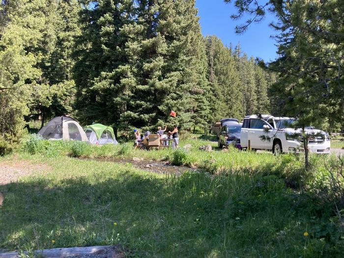 Pebble Creek Campground site #17...Pebble Creek Campground site #17
