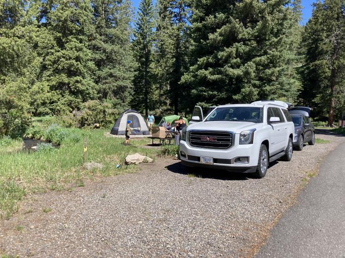 Pebble Creek Campground site #17....Pebble Creek Campground site #17