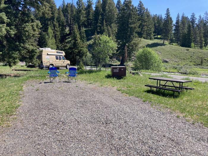 Pebble Creek Campground site #18...Pebble Creek Campground site #18