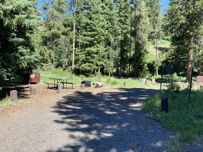 Pebble Creek Campground site #19..Pebble Creek Campground site #19