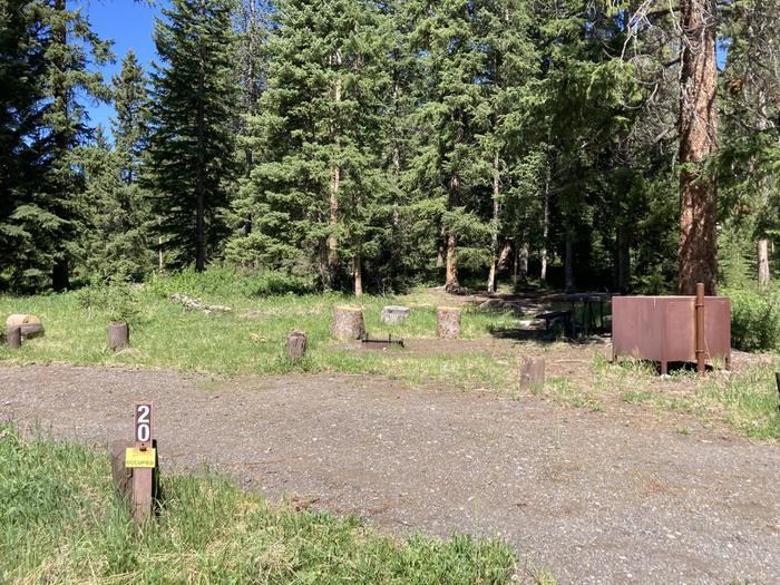 Pebble Creek Campground site #20...Pebble Creek Campground site #20