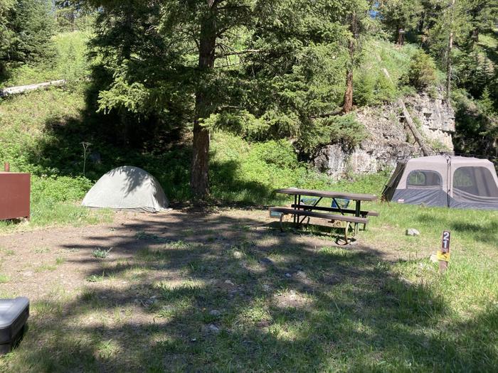 Pebble Creek Campground site #21...Pebble Creek Campground site #21