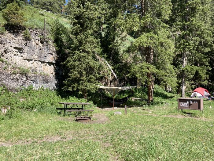 Pebble Creek Campground site #23...Pebble Creek Campground site #23