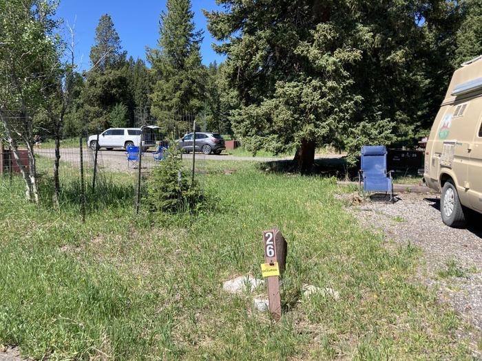 Pebble Creek Campground site #26...Pebble Creek Campground site #26