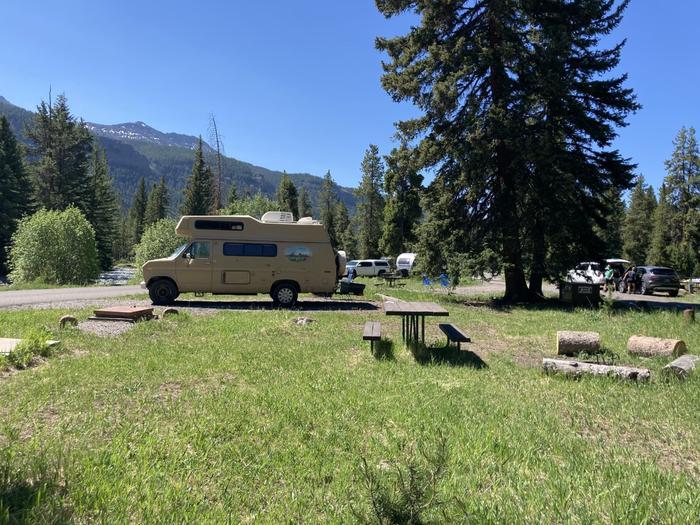 Pebble Creek Campground site #26..Pebble Creek Campground site #26