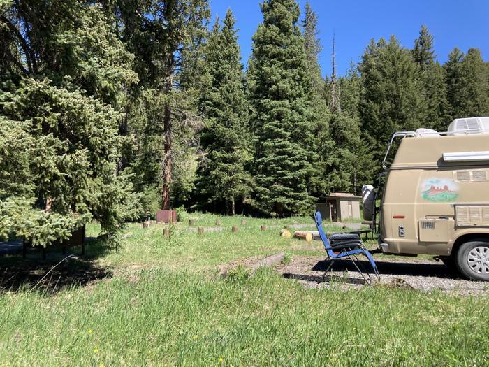 Pebble Creek Campground site #26....Pebble Creek Campground site #26