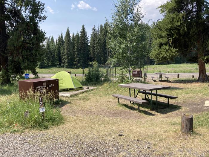 Pebble Creek Campground site #13....Pebble Creek Campground site #13