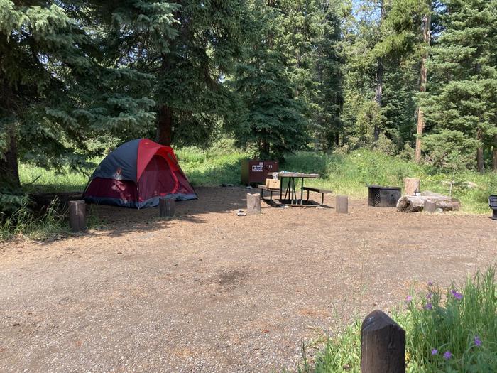 Pebble Creek Campground site #19...Pebble Creek Campground site #19