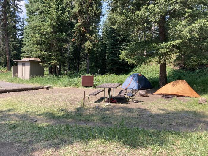 Pebble Creek Campground site #21.....Pebble Creek Campground site #21