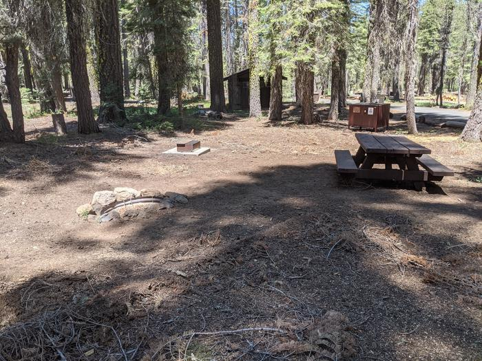 Little Beaver Site #60 Photo 2Site #60 with picnic table, bear box, fire ring, and grill in view. Restroom is nearby