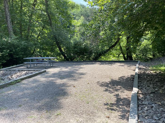 A photo of Site 018 of Loop MILL RUN RECREATION AREA at MILL RUN RECREATION AREA with Boat Ramp, Picnic Table, Fire Pit