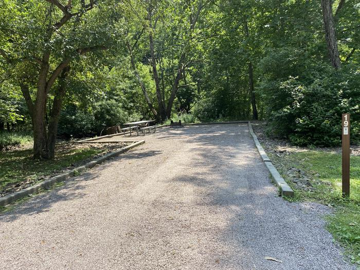 A photo of Site 019 of Loop MILL RUN RECREATION AREA at MILL RUN RECREATION AREA with Boat Ramp, Picnic Table, Fire Pit, Shade