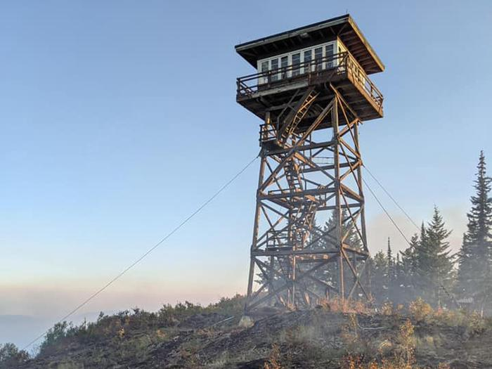 Fire at base of Lookout