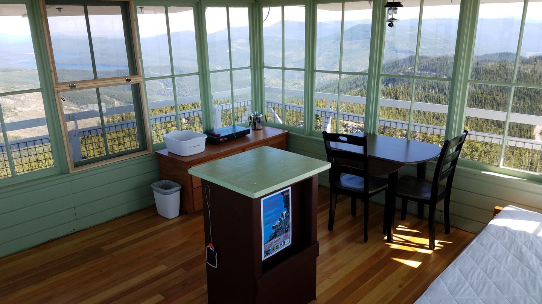 Meadow Peak Lookout Interior