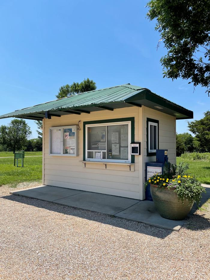 Gate Attendant Booth located in Hickory/Walnut Campground