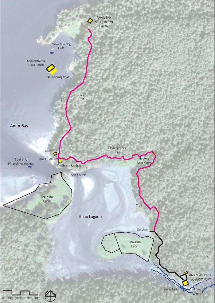 Map of Anan Wildlife Observatory