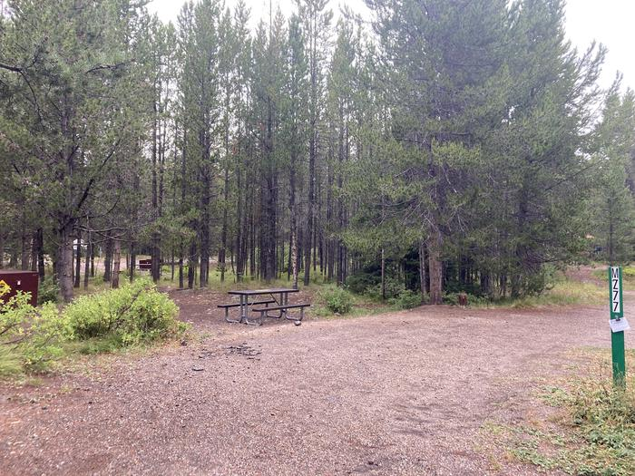 A photo of Site 277 of Loop M at Colter Bay Campground with Picnic Table, Fire Pit, Food Storage