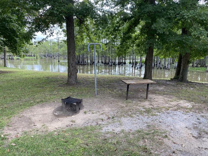A photo of Site 34 of Loop MAGNOLIA RIDGE  at MAGNOLIA RIDGE with Fire Pit, Waterfront, Lantern Pole