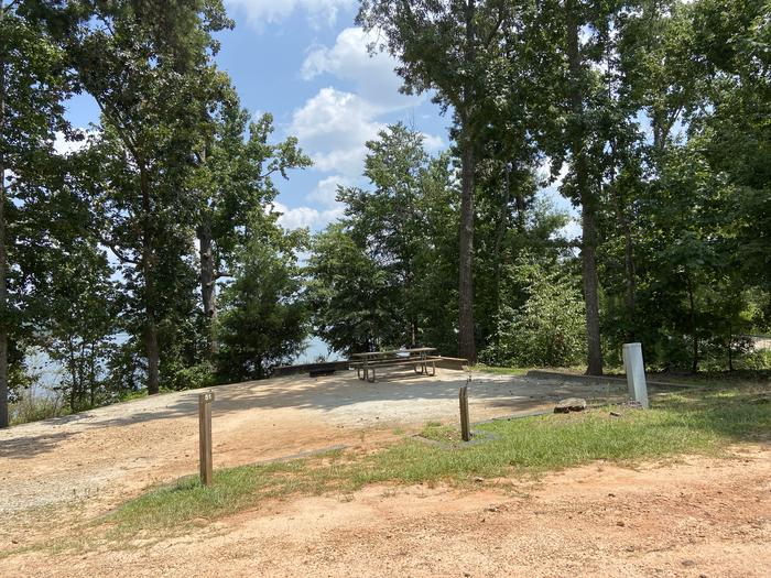 A photo of Site 51 of Loop SPRINGFIELD  at SPRINGFIELD with Picnic Table, Electricity Hookup, Fire Pit, Shade, Tent Pad, Waterfront, Lantern Pole, Water Hookup