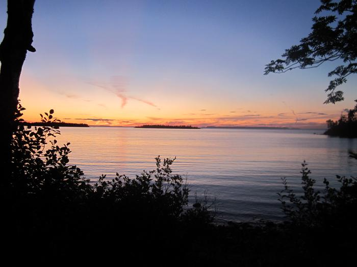 Sunset at Todd Harbor CampgroundTodd Harbor Campground is a popular campground on the north shore of Isle Royale.
