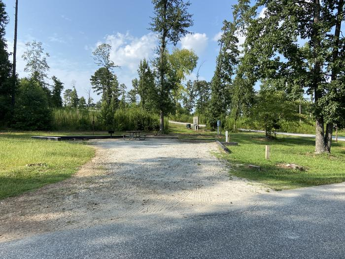 A photo of Site 25 of Loop SPRINGFIELD  at SPRINGFIELD with Picnic Table, Electricity Hookup, Fire Pit, Shade, Tent Pad, Lantern Pole, Water Hookup