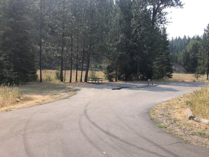 A photo of Site 21 of Loop A at Huckleberry Campground  with No Amenities Shown