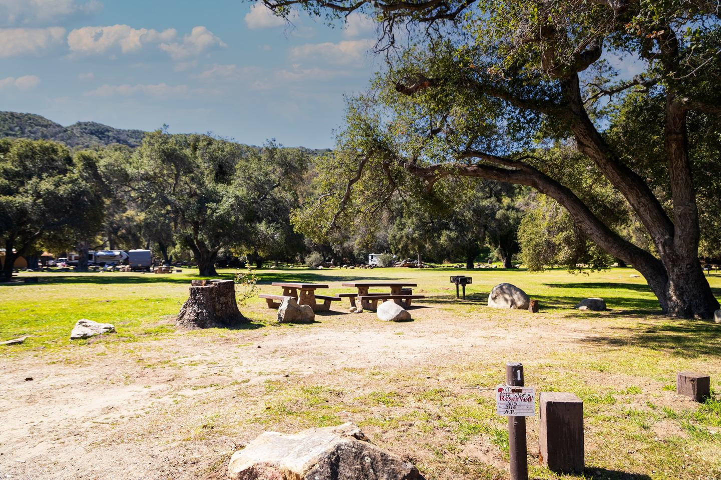 A photo of Site 001 of Loop AREA PARADISE at PARADISE CAMPGROUND with Picnic Table