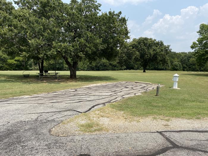 A photo of Site 101 of Loop HICKORY CREEK  at HICKORY CREEK with Boat Ramp, Picnic Table, Electricity Hookup, Fire Pit, Lantern Pole, Water Hookup