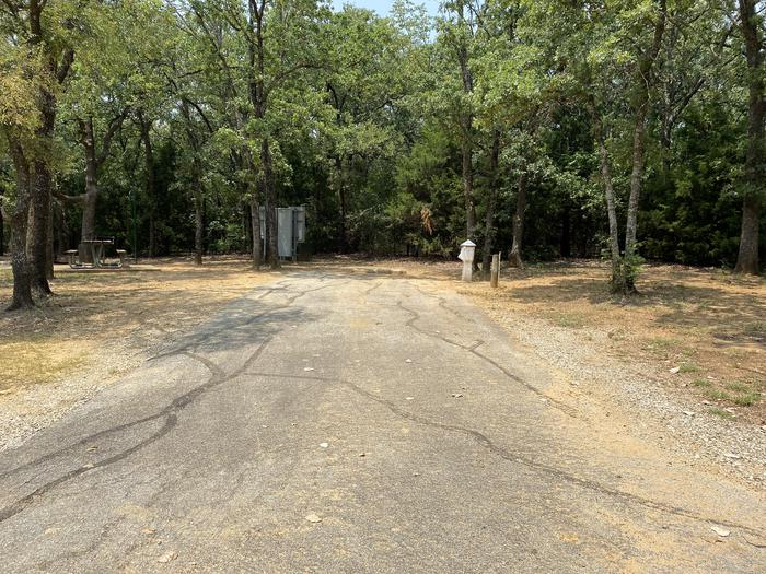 A photo of Site 034 of Loop HICKORY CREEK  at HICKORY CREEK with Boat Ramp, Picnic Table, Electricity Hookup, Fire Pit, Lantern Pole, Water Hookup