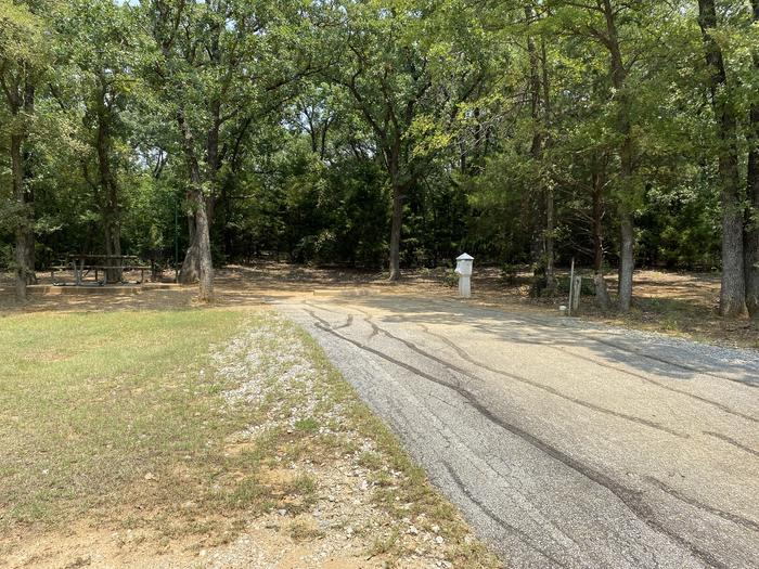 A photo of Site 022 of Loop HICKORY CREEK  at HICKORY CREEK with Boat Ramp, Picnic Table, Electricity Hookup, Fire Pit, Shade, Lantern Pole, Water Hookup