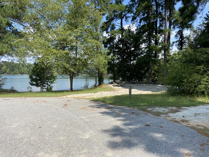 A photo of Site 11 of Loop SPRINGFIELD  at SPRINGFIELD with Picnic Table, Electricity Hookup, Fire Pit, Shade, Tent Pad, Waterfront, Lantern Pole, Water Hookup