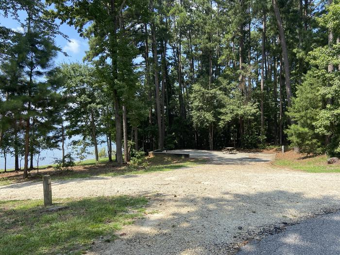 A photo of Site 19 of Loop SPRINGFIELD  at SPRINGFIELD with Picnic Table, Electricity Hookup, Fire Pit, Shade, Tent Pad, Waterfront, Lantern Pole, Water Hookup